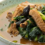 鶏手羽肉と小松菜の煮込み
